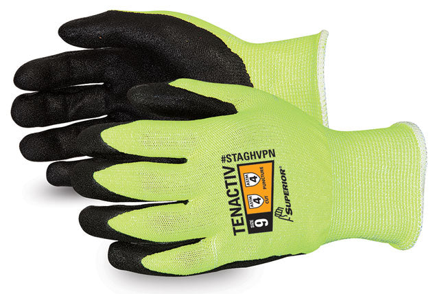 TENACTIV HI-VIZ GLV MICROPORE NITRILE GRIP      Sold as 1 Pair