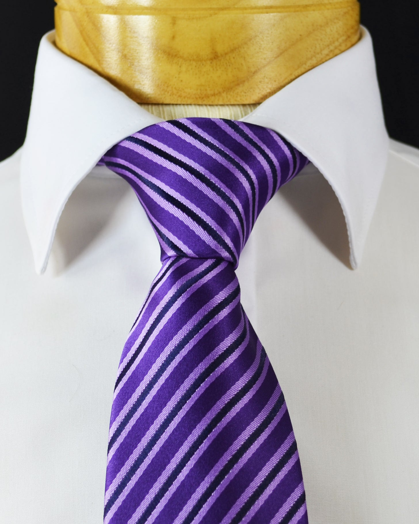 93dc65c5b363 Extra Long Imperial Palace Purple Striped Tie – BerlinBound