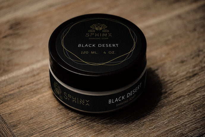 Black Desert Shaving Soap  Kaizen Base