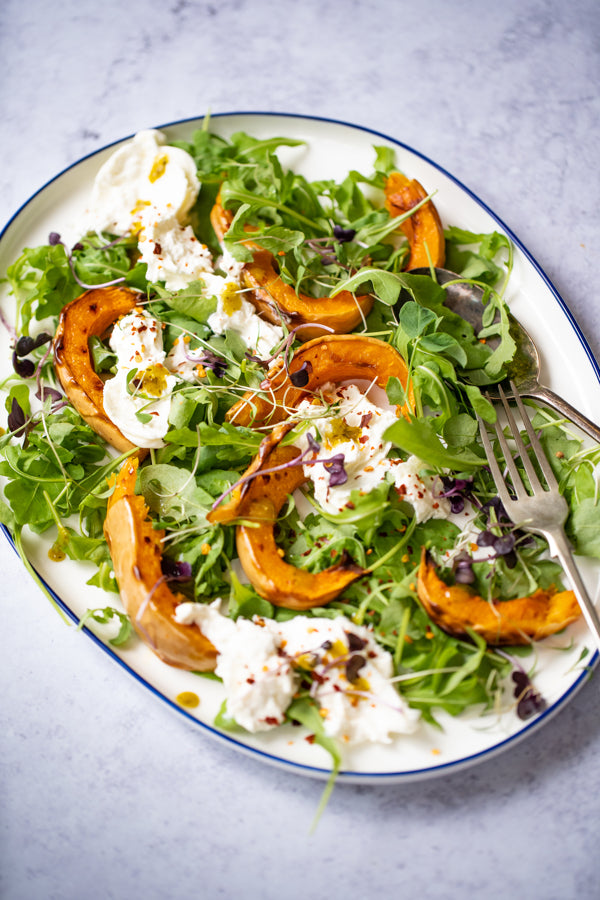 Roasted Butternut Squash Salad with Burrata