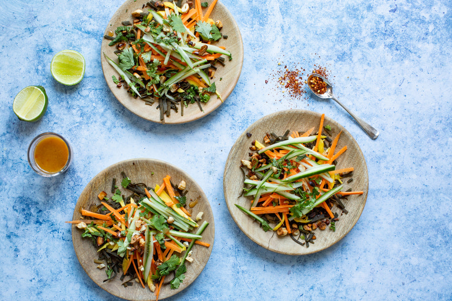 Carrot, Seaweed and Cashew Salad With Lucy's Ginger and Sesame