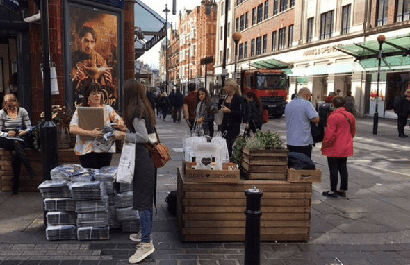 Lucy's Dressings Sachets around London!