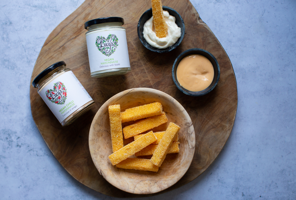 Truffle Polenta Fries with Lucy's Vegan Mayo