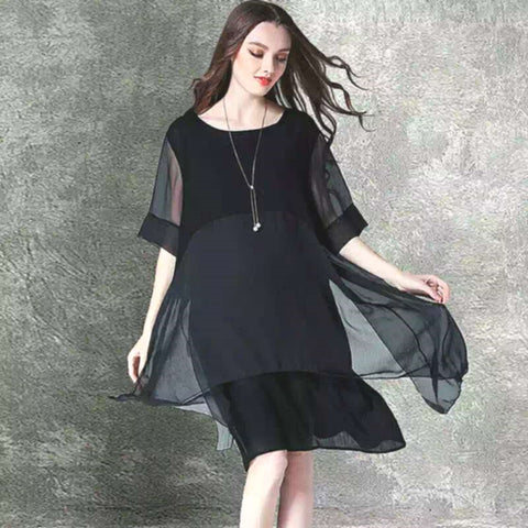 142f811c8 2019 new fashion dress female irregular long dress female dress