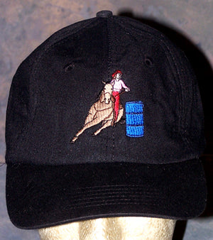 Cooling Ball Cap - Barrel Racer - Black - Hobby Hill Farm