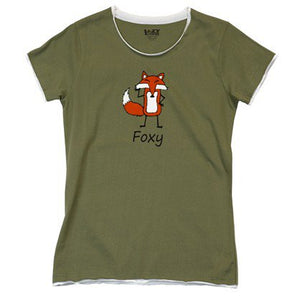 Foxy Green Juniors PJ Fitted Tee - Hobby Hill Farm