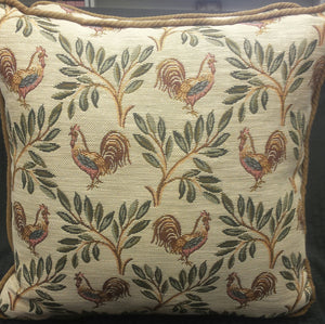 Rooster Tapestry Pillow - Hobby Hill Farm