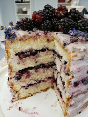 Blackberry Lavender Honey Cake - Hobby Hill Farm
