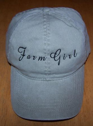 Farm Girl Embroidered Ball Cap - Hobby Hill Farm