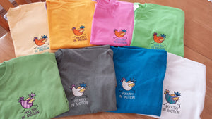 Poultry in Motion - T-Shirt - Hobby Hill Farm