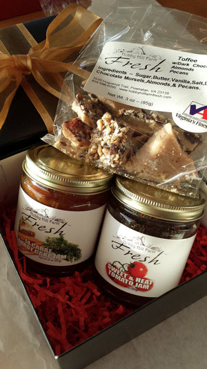 Gift Box  - Two Jams and Toffee Candy - Hobby Hill Farm