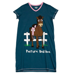 Pasture Bedtime V-Neck Nightshirt - Hobby Hill Farm