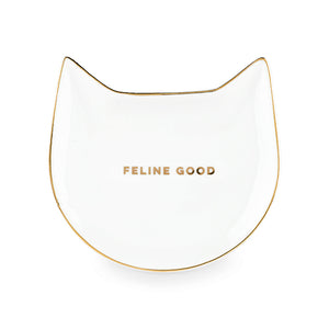 Feline Good White Cat Tea Tray - Hobby Hill Farm