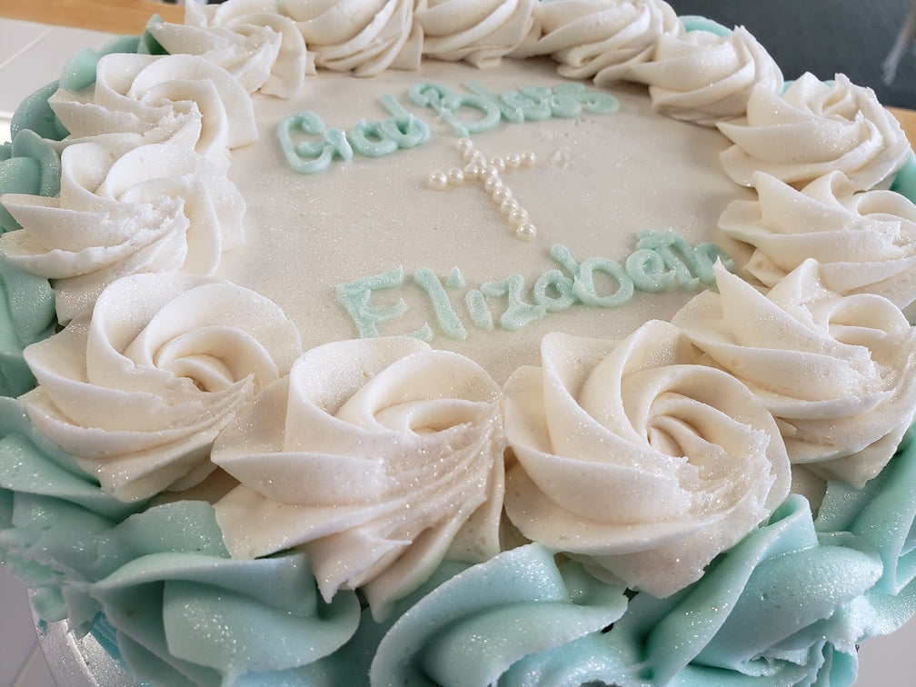 Custom Baptism - Communion Cake - Hobby Hill Farm