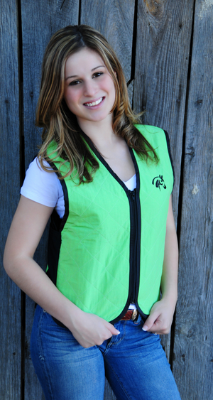 Zip-Up Activewear Cooling Vest - Hobby Hill Farm