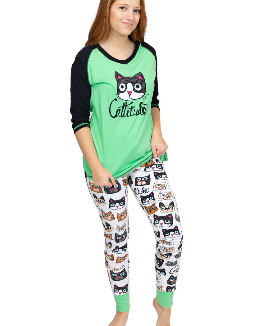 Catitude PJ Legging Set - Hobby Hill Farm