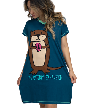 Otterly Exhausted Nightshirt - Hobby Hill Farm