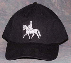 Cooling Cap - Dressage - Embroidered - Black - Hobby Hill Farm