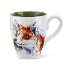 Fox Stoneware Mug - Hobby Hill Farm