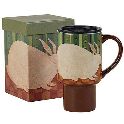 Wallpaper Bunny Travel Mug - Hobby Hill Farm