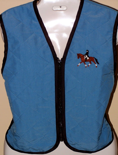 Zip-Up Activewear Cooling Vest with Custom Embroidery - Hobby Hill Farm