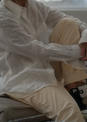Shirt Linen White Re-