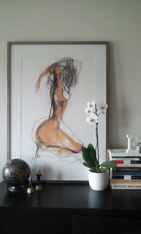 Carmel jenkin painting and line drawing