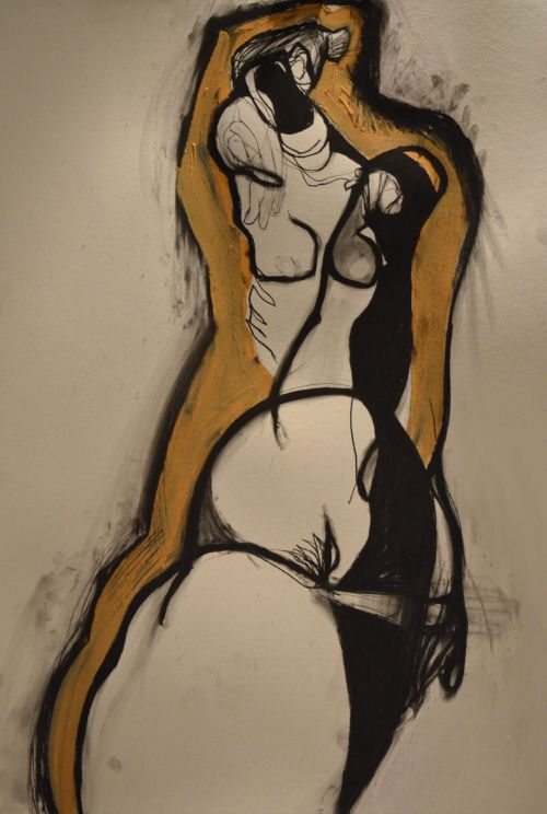 Nude 6. - Mixed Media On Canvas