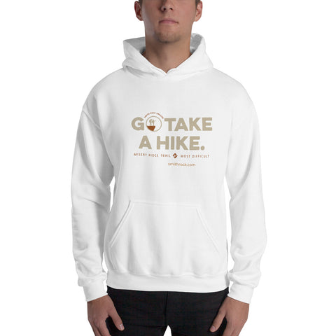 White Go Take a Hike (On Misery Ridge) Unisex Hoodie