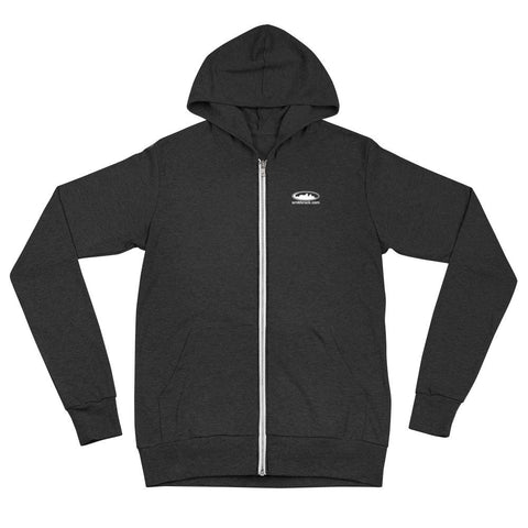 Charcoal Black Triblend SmithRock.com Lightweight Zipped Unisex Hoodie