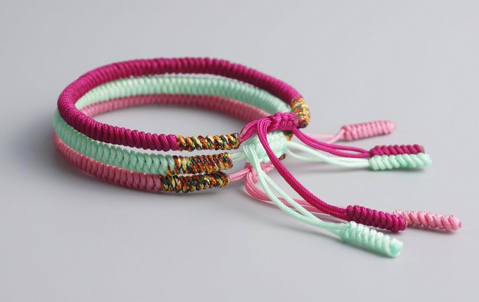 Composition De Bracelets Porte Chance Tricolore