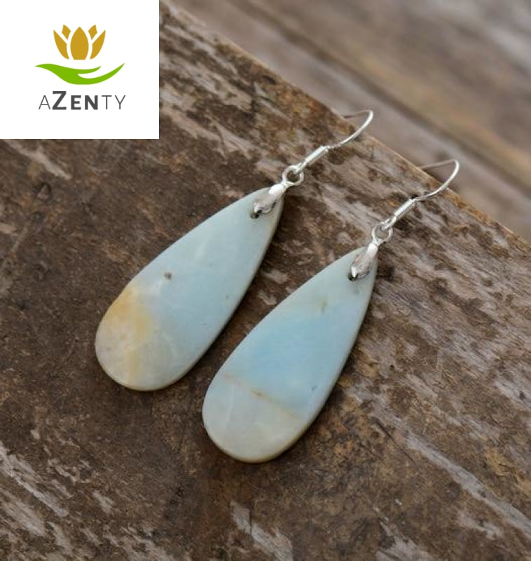 "Boucles d'Oreilles ""Emotions Douces"" en Amazonite"