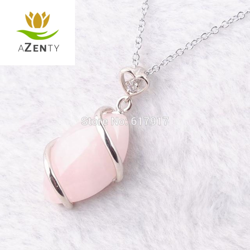 "Collier ""Douceur et Tendresse"" en Quartz Rose"
