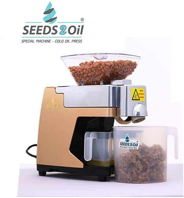 Seeds to Oil S2O-2A Oil Extractor Machine and Cold Press Oil Machine (Gold)