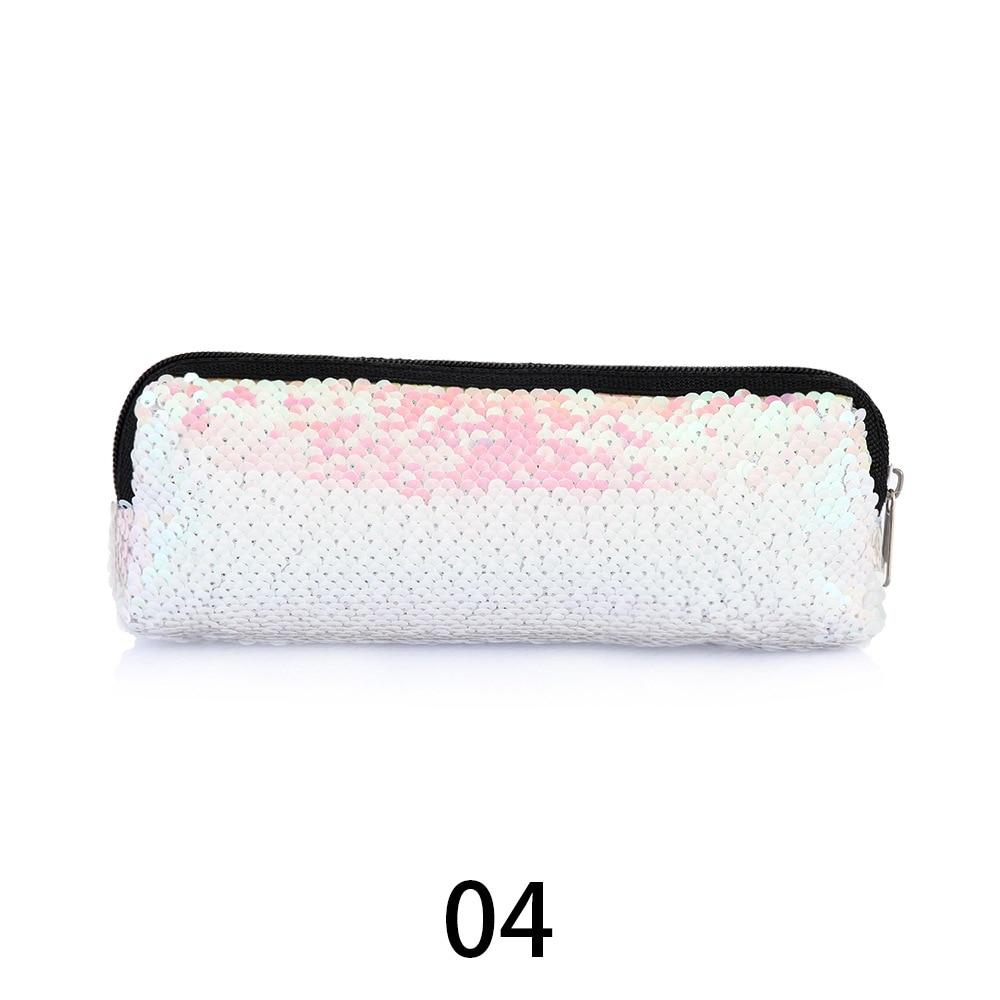 1PC Colorful Mermaid Sequin Cosmetic Bag Handbags Makeup Organizer Case Women Glitter Paillettes Pouch Reversible Double Color