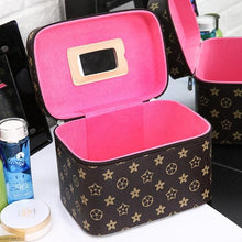 Load image into Gallery viewer, 2019 New High Quality Makeup Organizer Women Cosmetic Case/Bag with Mirror Travel Large Capacity Suitcases Make Up Bag Hot Sale