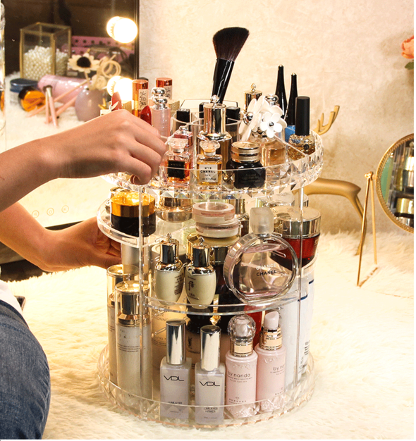 Free shipping——360° Rotating  Cosmetic Storage Box