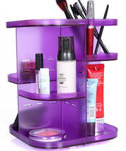 Load image into Gallery viewer, 360 Rotating Height Adjustable Cosmetic Stand Makeup Organizer Arcrylic
