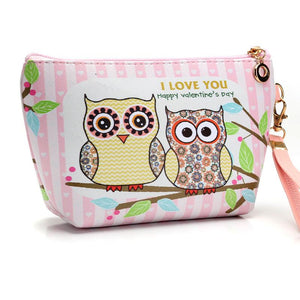 Owl Cartoon Design Cosmetic Bags Organizer Portable Storage Toiletry Bag