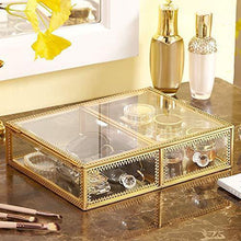 Load image into Gallery viewer, Related pengke x large gold makeup organizers dust proof cosmetic and jewelry storage case with 5 drawers 10 3x7 7x15 4 pack of 1