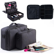Load image into Gallery viewer, High Quality Professional Empty Makeup Organizer Bolso Mujer Cosmetic Case Travel Large Capacity Storage Bag Suitcases DMG