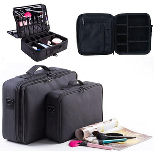 High Quality Professional Empty Makeup Organizer Bolso Mujer Cosmetic Case Travel Large Capacity Storage Bag Suitcases DMG