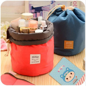 Cosmetic Pouch Handbag Travel Cosmetic Bag Round Drawstring Makeup Organizer Storage Bag
