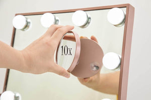 Organize with hollywood lighted vanity makeup mirror light up professional mirror with storage 3 color lighting modes large cosmetic mirror with 12 dimmable bulbs for dressing table