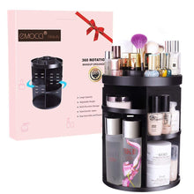 Load image into Gallery viewer, Desktop Rotating Cosmetics Storage Rack Plastic Storage Shelf Dressing Table