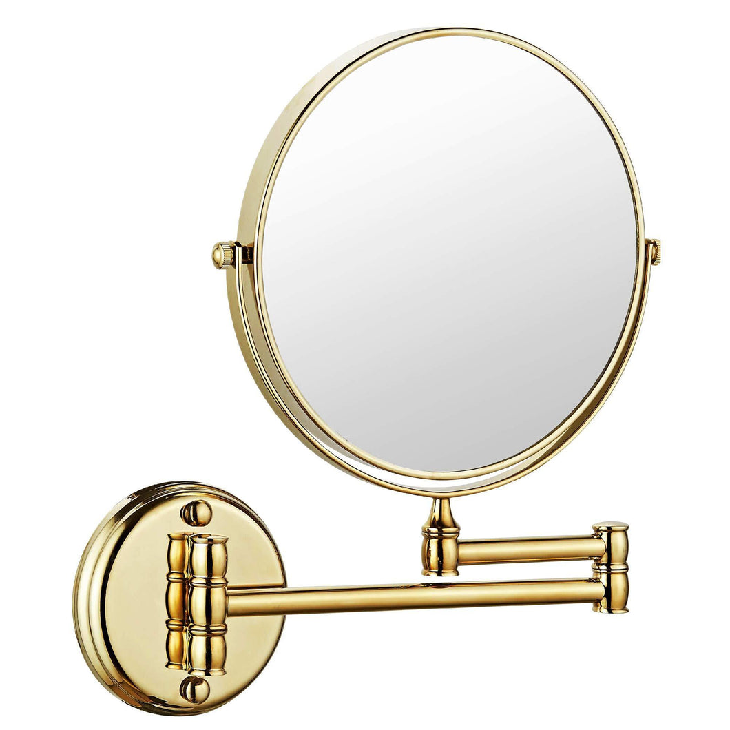 Discover the makeup mirror wall mount 8 inch dual side with 1x 5x magnification bathroom magnifying mirror two side 360 swivel cosmetic face mirror extendable vanity mirrors luxury brass gold marmolux acc