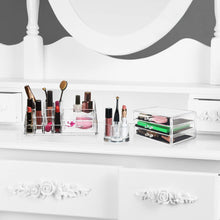 Load image into Gallery viewer, Discover the best acrylic cosmetic storage lipstick organizer decor 15 slot organizers 1 box drawer tray holder for makeup perfume brush pens pencil lipgloss and other beauty accessories for vanity or countertop