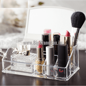 Acrylic Cosmetic Organizer With Mirror