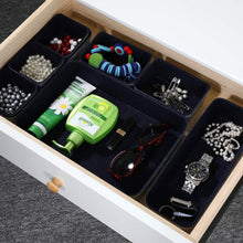Load image into Gallery viewer, Results welaxy office drawer organizers trays drawers dividers felt storage bins organizer bin for jewelry cosmetic makeup junk silverware pens art crafts tools sturdy flexible bins pack 8 lime green