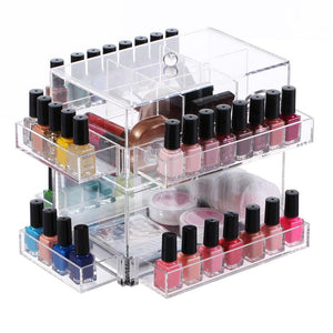 Ikee Design® Premium Acrylic Rotating Nail Polish Storage Rack Makeup Organizer